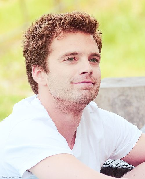 Sebastian Stan is indeed a little puppy
