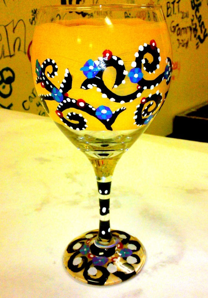 19 best images about gainesville masterpieces mixers on for What paint do you use to paint wine glasses