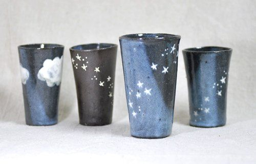 [Pottery cups handmade] of tumbler star