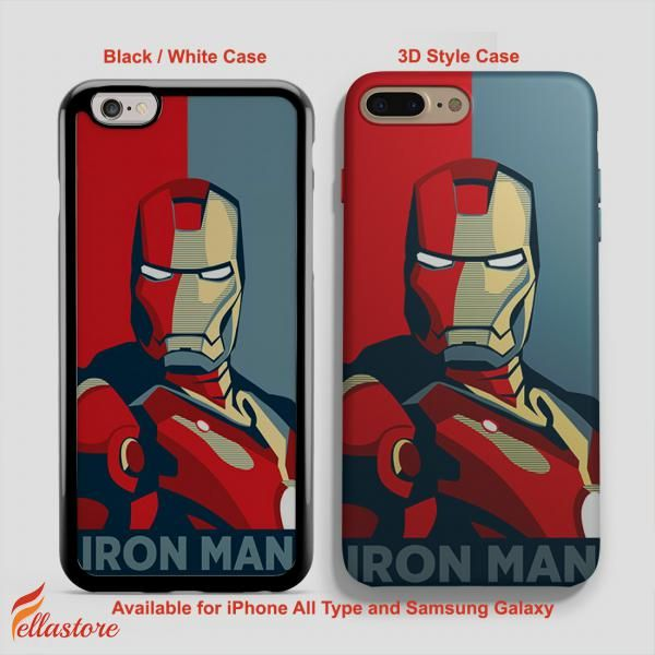 beautiful Iron Man Cartoon iPhone 7-7 Plus Case, iPhone 6-6S Plus, iPhone 5 5S SE, Samsung Galaxy S8 S7 S6 Cases and Other