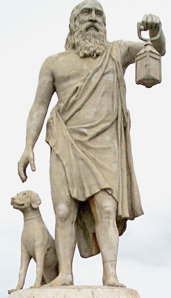 Diogenes of Sinope. Spent his days searching Athens for an honest man. Never found one.