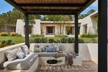 Can Caterina, Santa Gertrudis Patio, Pergola, House
