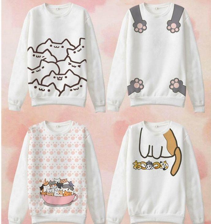 Cute cat cartoon t-shirts SE9123