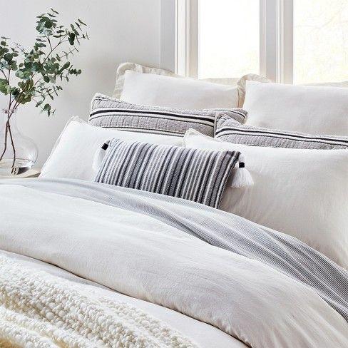 Throw Pillow Jet Gray / Black – Hearth & Hand with Magnolia, LIGHT Gray NEP