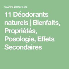 11 Déodorants naturels | Bienfaits, Propriétés, Posologie, Effets Secondaires