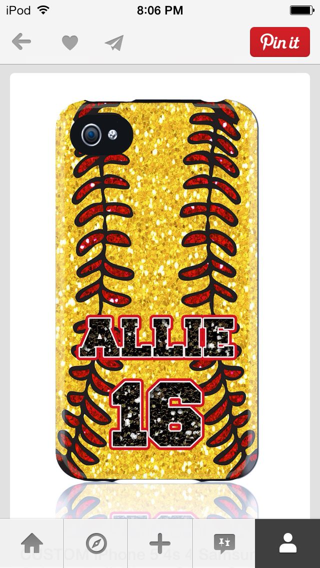 Softball phone case!