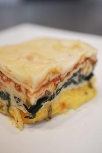 Lili popotte: Lasagne à la courge butternut, à la ricotta et aux épinards