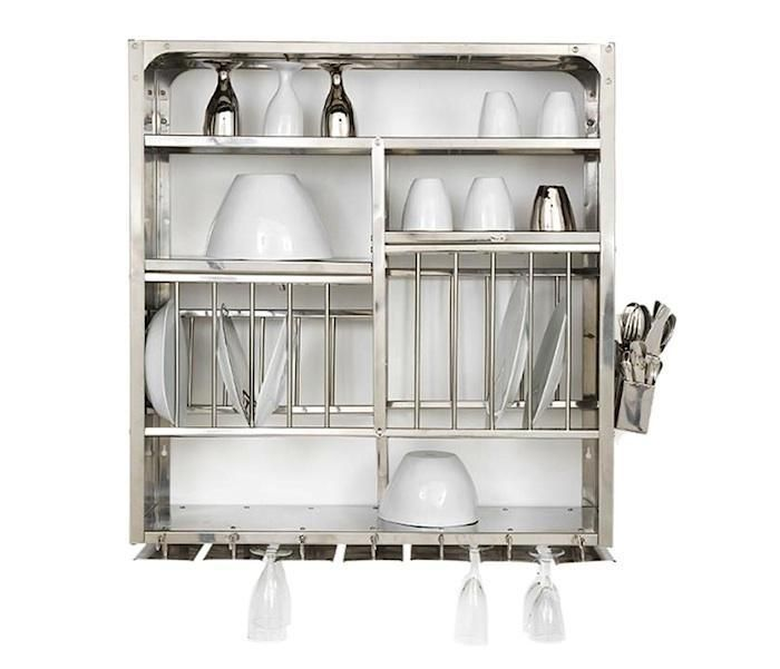 stainless steel wall-mounted dish rack from French design company Tsé Tsé. Itu0027s advertised as a dish drainer (all the shelves have holes in them) to be hung ...  sc 1 st  Pinterest & 20 best Kitchen Plate Racks images on Pinterest | Dish racks Plate ...