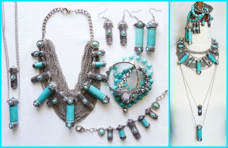 JDS - DESIGNER INSPIRED: Moroccan Skies - http://jeweldivasstyle.com/designer-inspired-moroccan-skies-goes-matchy-matchy/