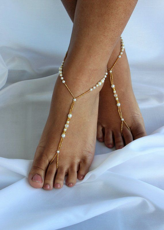 674b1dfe0ee Barefoot Sandals Beach Wedding Foot Jewelry Gold Footless Sandal Gold Foot  Jewelry