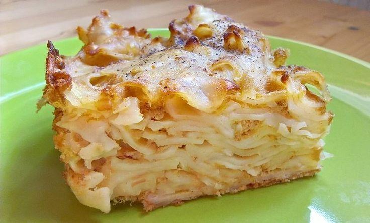 Ham square pasta