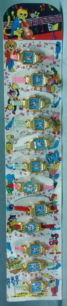 Vintage Japan Play Watch Set - Complete Store Display