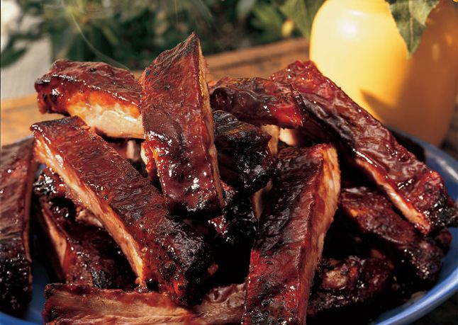 Kansas City Spareribs: Slowly cooked ribs glazed with a spicy-sweet ...