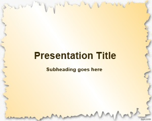 Broken Paper Frame PowerPoint Template is a free simple PowerPoint template that you can use as a broken paper background for your presentations