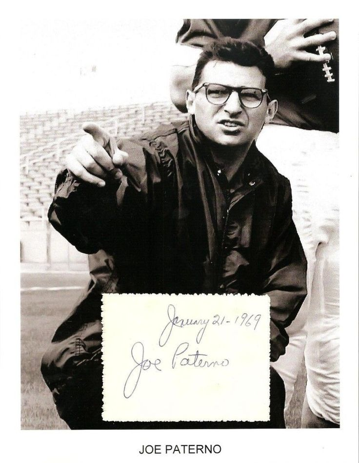 Nice Great Joe Paterno Autograph JoePa  NCAA Football Penn State Nittany Lions Brooklyn #1  2017-2018 Check more at http://24myshop.ml/my-desires/great-joe-paterno-autograph-joepa-ncaa-football-penn-state-nittany-lions-brooklyn-1-2017-2018/