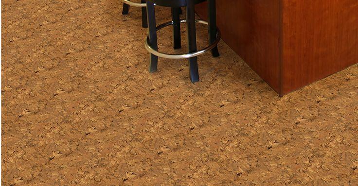 Lisbon cork light with easy gripstrip installation vinyl for Cork vs vinyl flooring