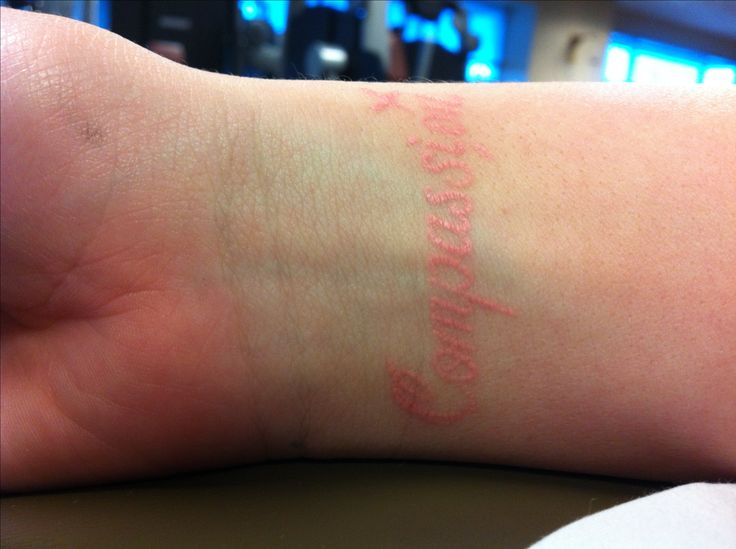 Like this color Pink ink tattoo, compassion