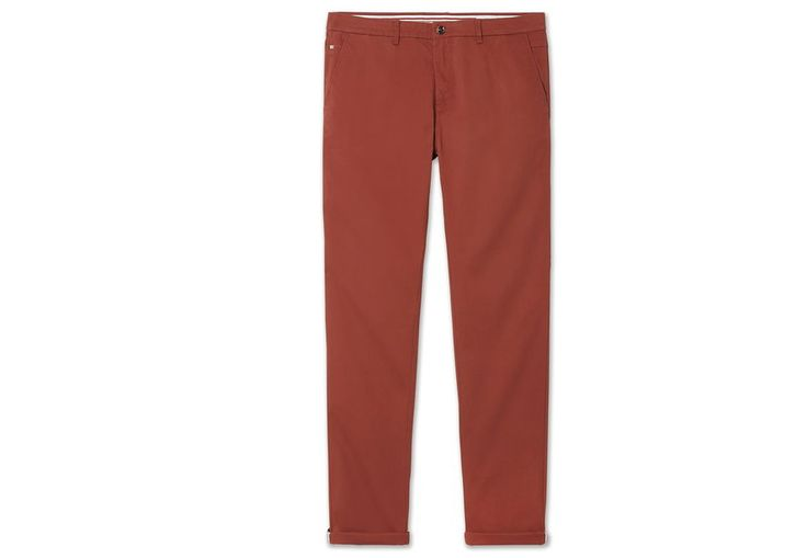 Chino slim casual Rouge Foncé Homme - Jules