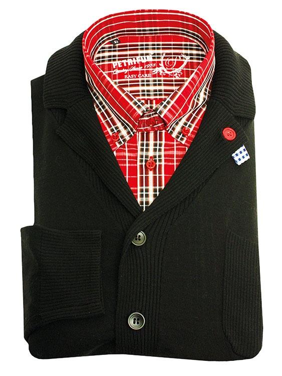 PETRIFUN paita 59,90 € ja PETRIFUN Aki Choklat -neuletakki 129,90 €. - PETRIFUN Store