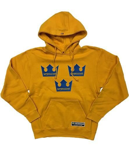 ea987861dc1 MESHUGGAH  TRE KRONOR  pullover hockey hoodie in gold We all know that  Sweden is a HOCKEY super-power