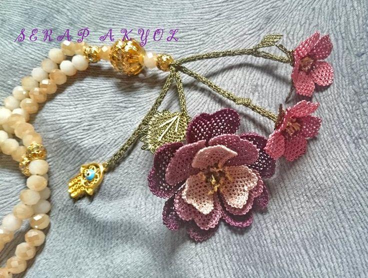 #çiçek #tespih #elişi #Turkish needle lace