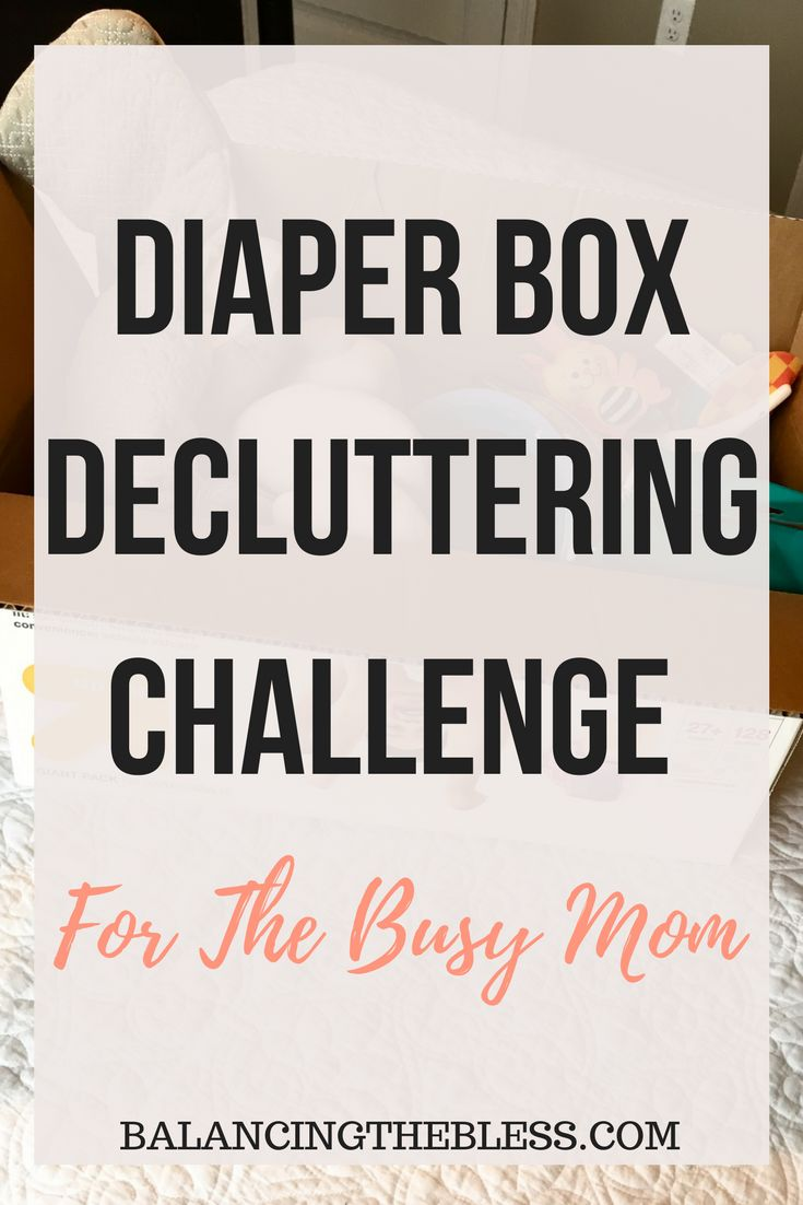 Decluttering Your Home With The Diaper Box Challenge