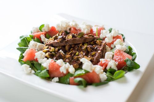 spiced lamb salad