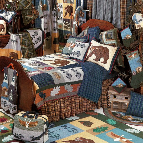 Cabin Bedding By Patch Magic Quilts Cabin Beds For Kids