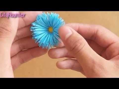 Como hacer flores de papel {SUPER FACIL} // Decoración para regalo - YouTube