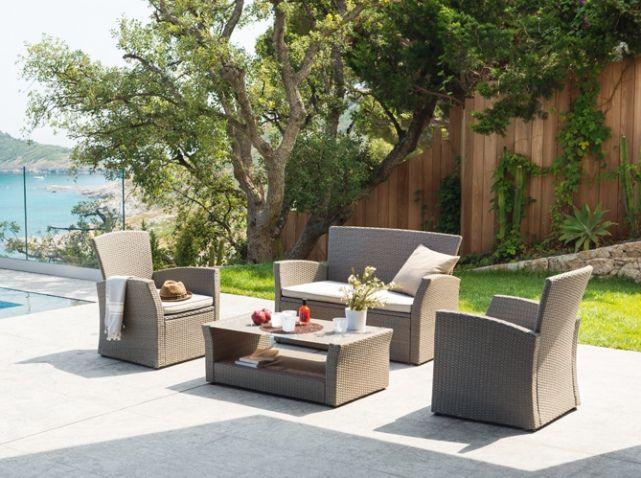 Salon De Jardin Teck Ikea : salon de jardin resine hesperide piscine jardin déco jardin salon de
