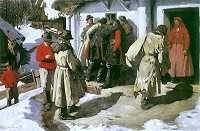 Włodzimierz Tetmajer. Muzykanci w Bronowicach.   1891. Olej na płótnie. 106 x 182 cm.   Muzeum Narodowe, Warszawa.