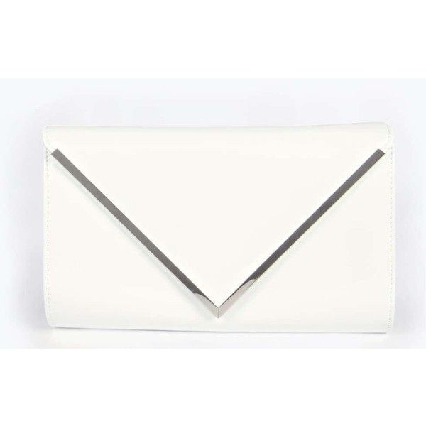 Boohoo Night Amy Envelope Clutch Bag (22 CAD) ❤ liked on Polyvore featuring bags, handbags, clutches, white, white shopping bags, special occasion clutches, envelope clutch, white clutches and crossbody backpack