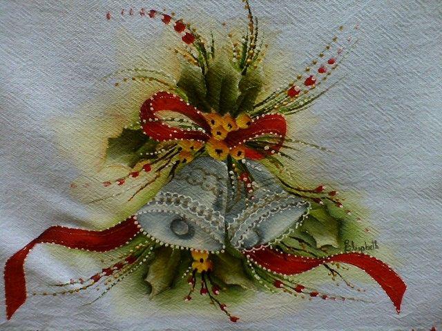 pintura em tecido natal pinterest - Pesquisa Google
