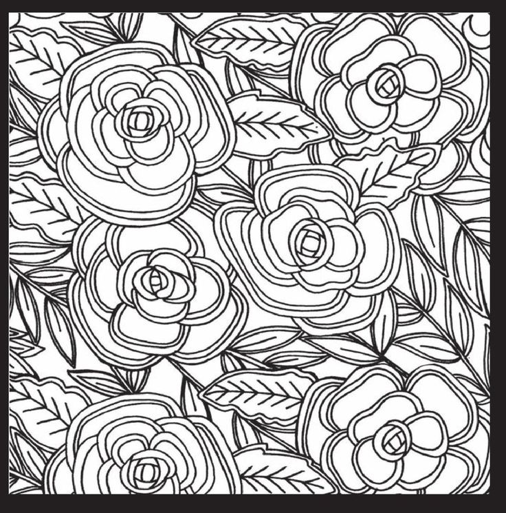 rose art coloring pages - photo#27