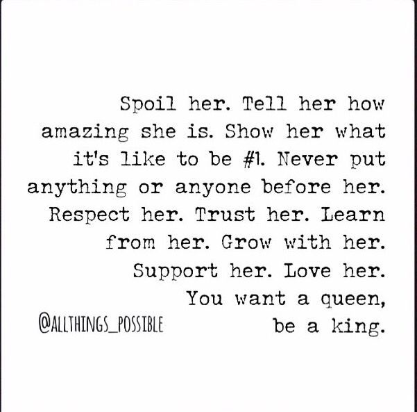 Tell Her U Love Her Quotes: Spoil Her. Tell Her How Amazing She Is. Show Her What It's