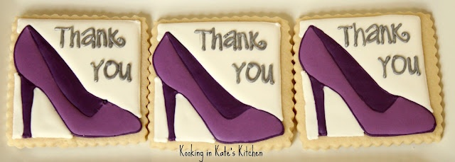 Purple high heel cookies