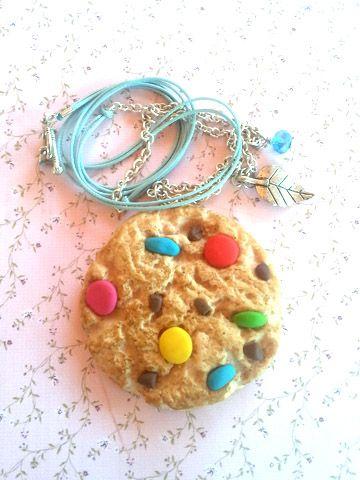 m&m cookie necklace large....smells delicious!