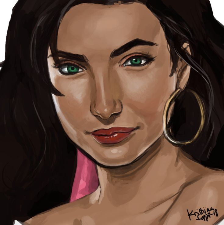 I often fear I am not efficient enough when painting. I've tried painting Disney's #Esmeralda in a limited (60 minute) time a few times now, so I did that again.  #speedpainting