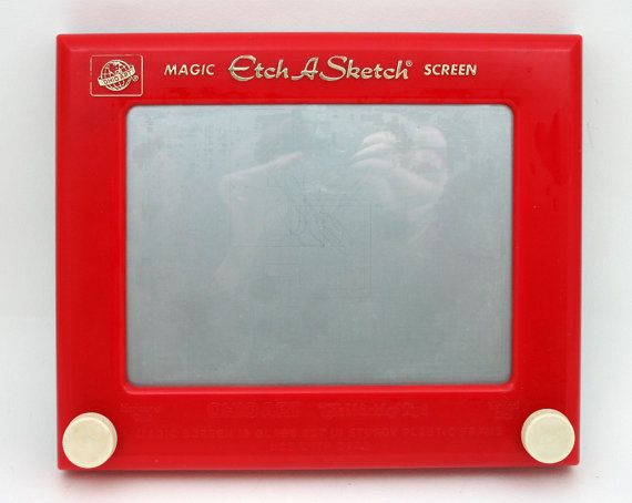 Vintage toy Etch A Sketch 1970s kids art from SmilingCatVintage, $10.00