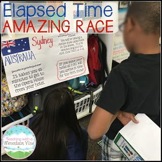 Elapsed Time Amazing Race.  Such a great elapsed time activity!