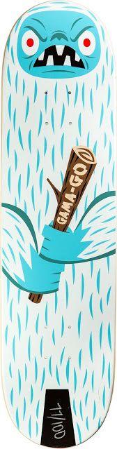 Gama-Go, Tim Biskup skateboard art/graphic