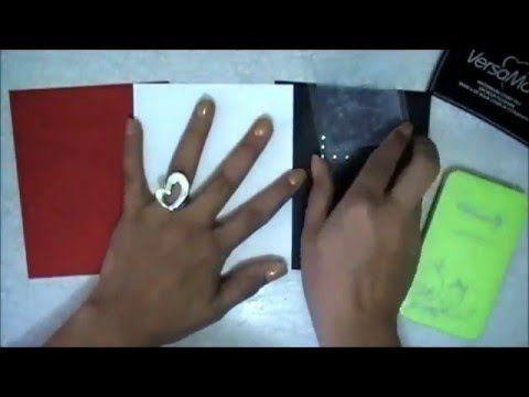 TUTORIAL sustituir los polvos de embossing con maquillaje Scrapbook Scrapbooking - YouTube