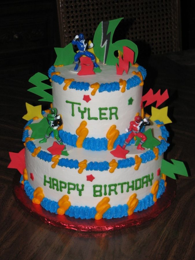 Birthday Cake Decorations For Seniors : Power Ranger Cake http://birthdays.momsmags.net/power ...