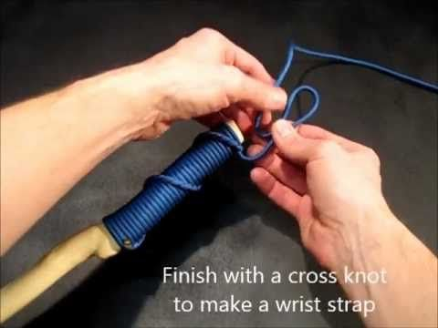 Spiral hitched paracord handle - used on official Pack 94 Hiking Club hiking sticks!