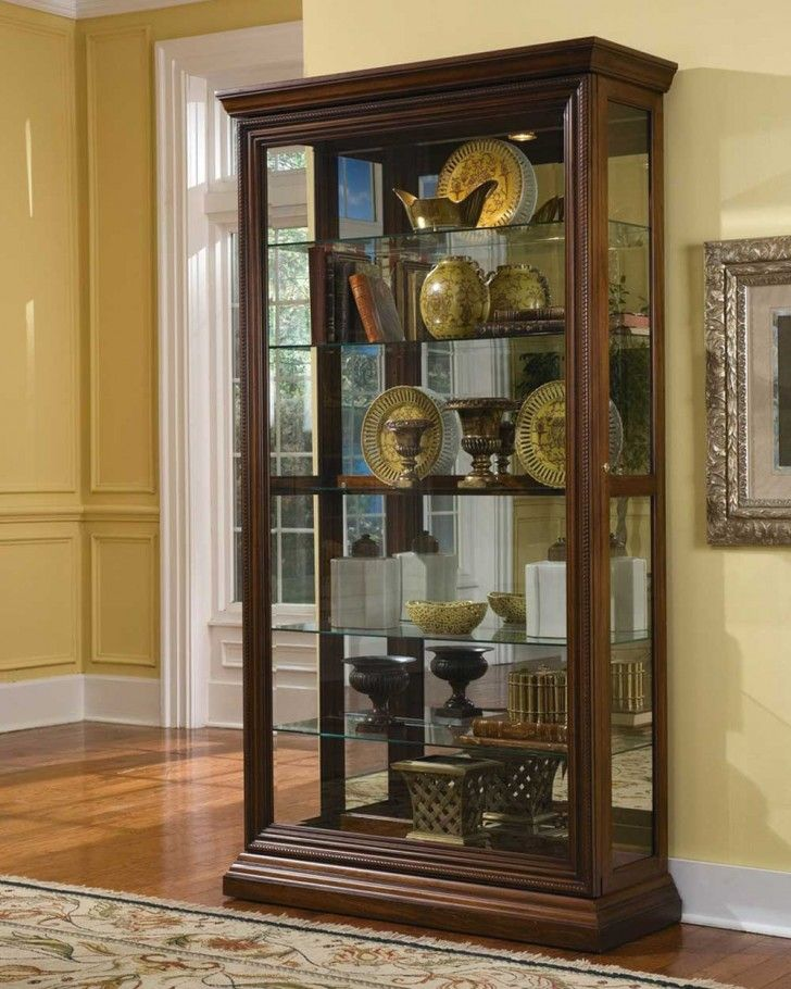 Curios Curio Cabinet In Edwardian Cherry Dining Room Table Sets Bedroom Furniture Cabinets And Solid Wood
