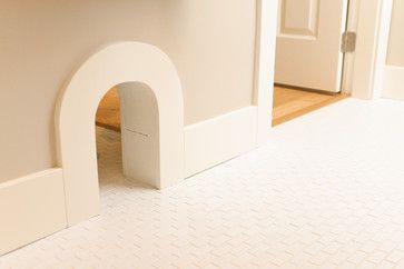 Pet entrance—this way you can keep doors closed, but let the little guys have access.