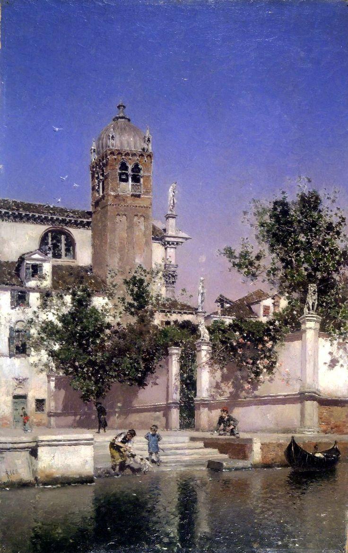 Martin Rico y Ortega – Brooklyn Museum ~ Un canal en Venecia/ A Canal in Venice…