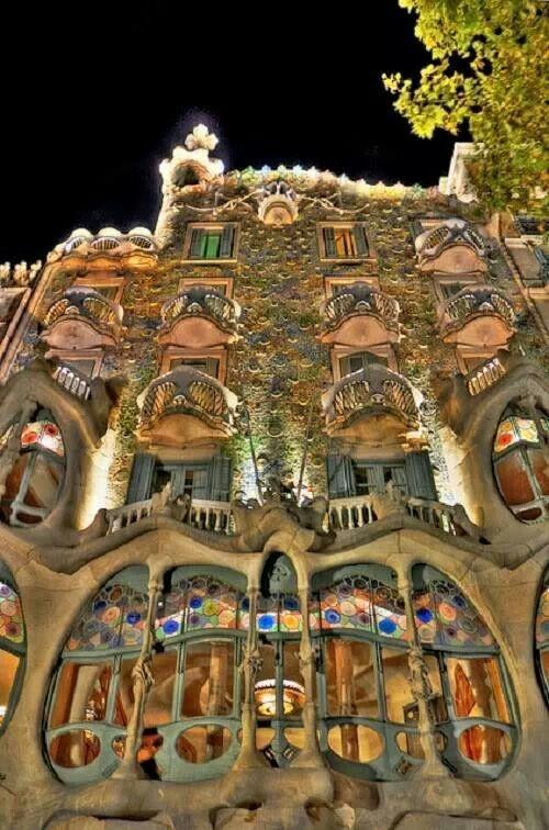 La Casa Batlló. Barcelona.  Spain.