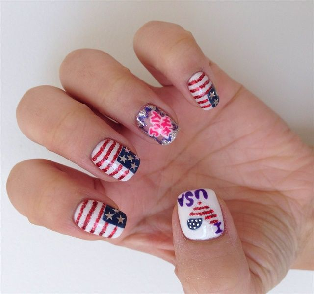 166 best images about fourth of july nail art on pinterest for 4th of july nail art decoration flag