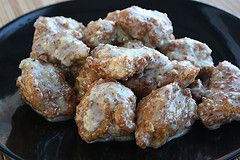 Buffalo Wild Wing's Parmesan Garlic boneless wings. - If I had a deep fryer I'd make them myself!